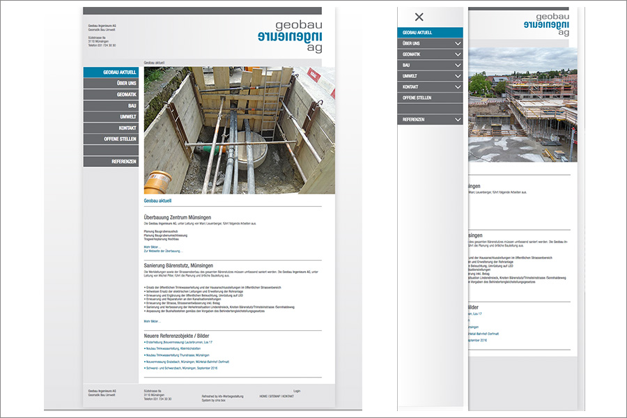 Website Geobau Ingenieure AG