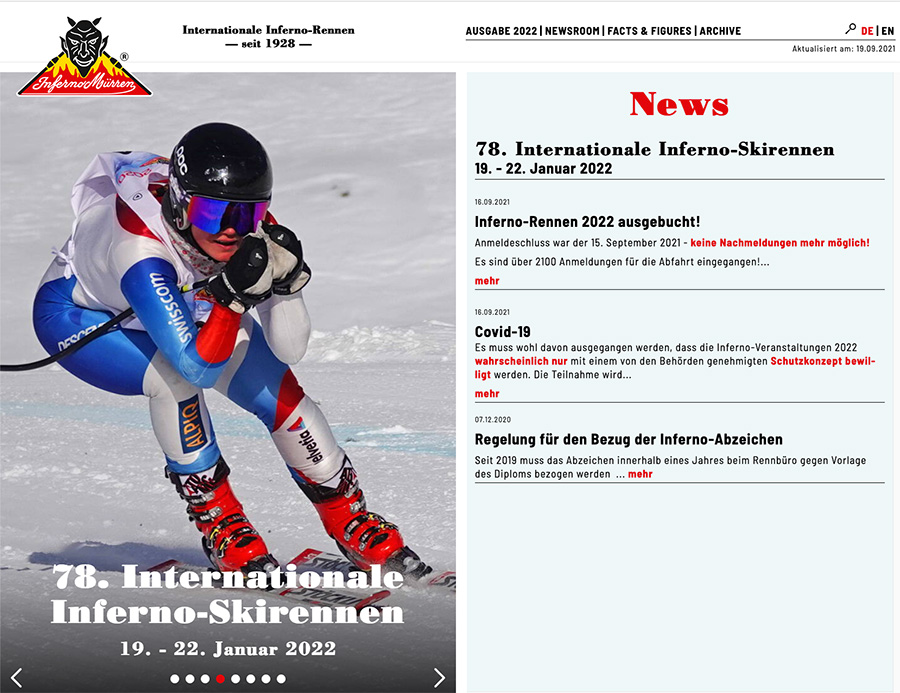 Website Internationale Inferno-Skirennen